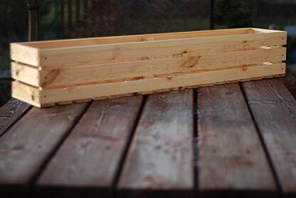 skrzynka drewniana na kwiaty doniczka balkonowa