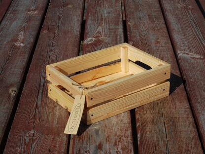 dekoracyjna skrzynka drewniana