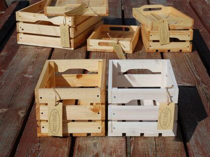 skrzynka dekoracyjna drewniana bejcowana biała
