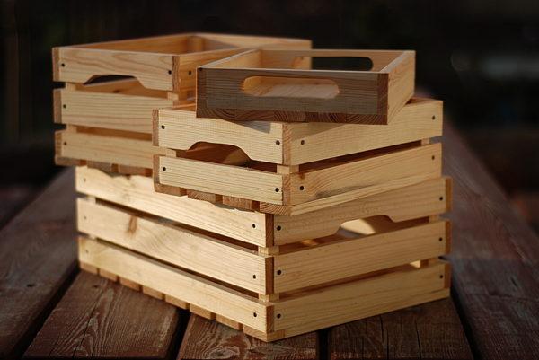 skrzynki drewniane dekoracyjne taca drewniana zestaw skrzynek
