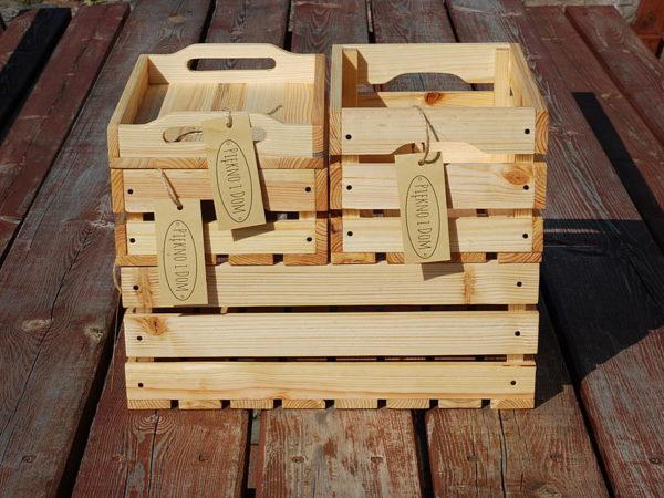 dekoracyjna skrzynka drewniana zestaw skrzynek z tacą