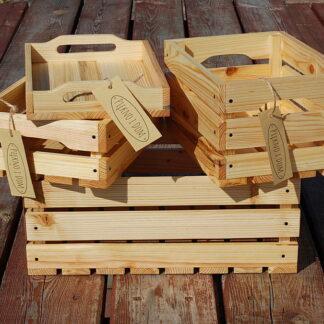 dekoracyjna skrzynka drewniana zestaw skrzynek z tacami