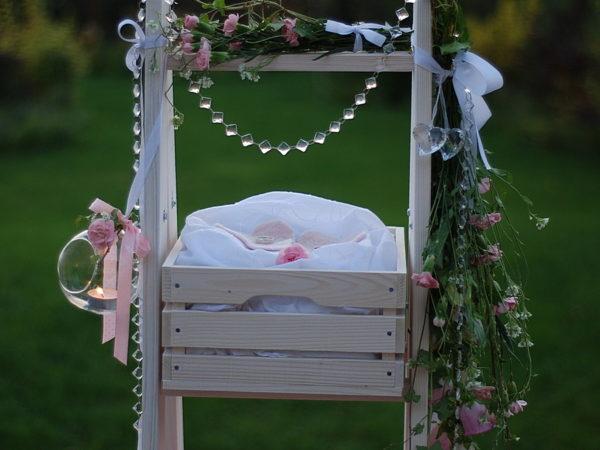 drabina dekoracyjna na wesele