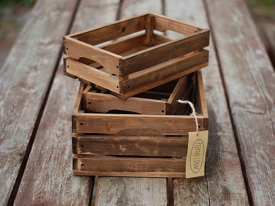 Skrzynka Drewniana Dąb Duża