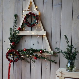 drewniana choinka dekoracyjna
