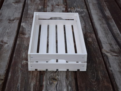 Skrzynka drewniana biała dekoracyjna