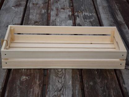 drewniana skrzynka - taca