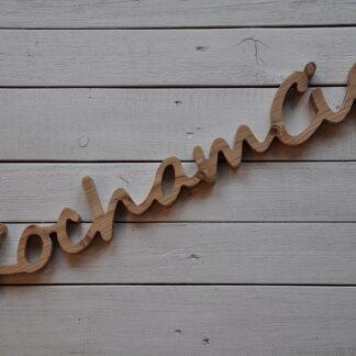 drewniany napis kocham cię