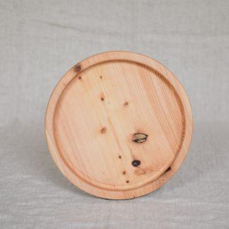 okrągła drewniana taca cyprysowa