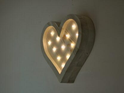 lampka serce