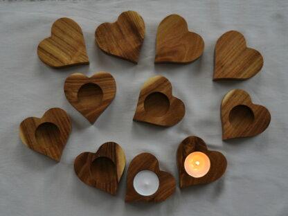 świecznik serce na tealighta