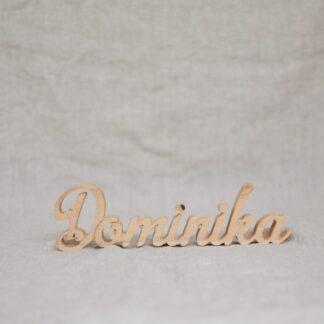 drewniany napis imię