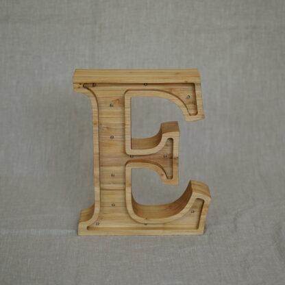 drewniana lampka literka