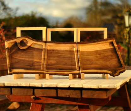 patery z drewna orzechowego zestaw