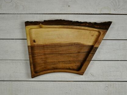patera z drewna orzechowego