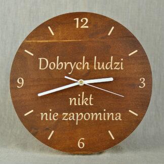 zegar z napisem